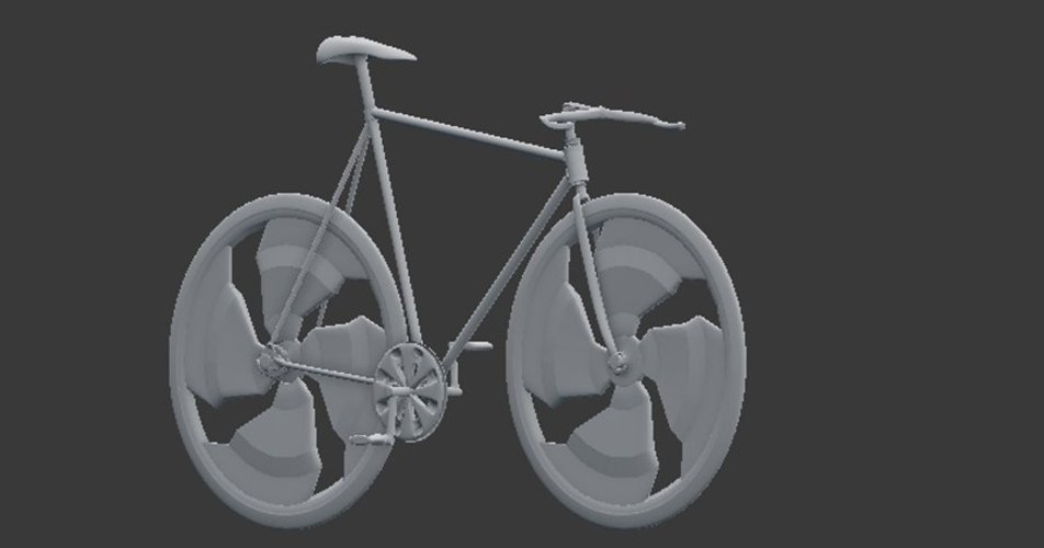 fixed bike negative slooping // bicicleta fixed de slooping nega 3D Print 35539