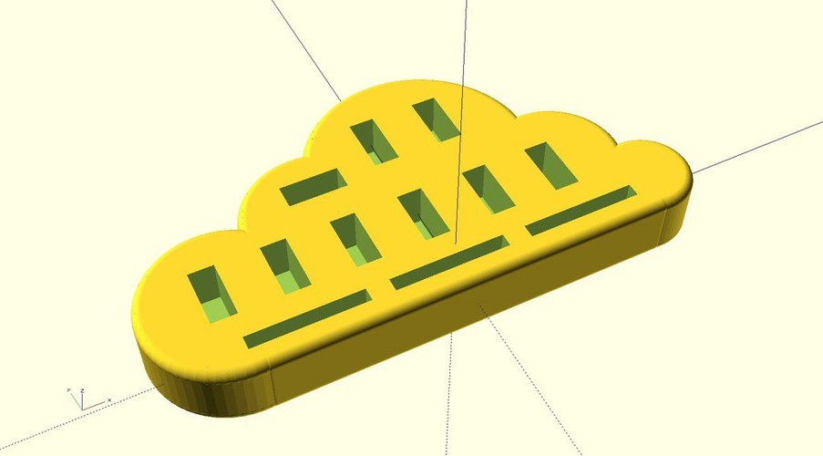 Ekobots - Cloud Storage - USB device holder. 3D Print 35585