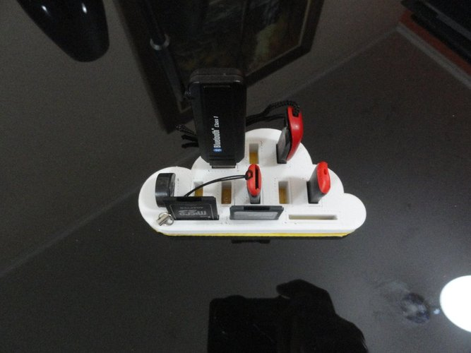 Ekobots - Cloud Storage - USB device holder. 3D Print 35586