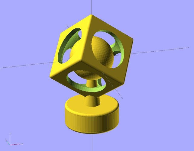 Ekobots - The sphere in cube. 3D Print 35611