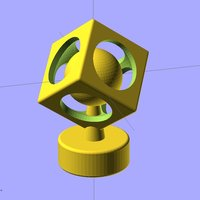 Small Ekobots - The sphere in cube. 3D Printing 35611