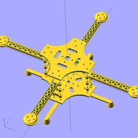 Small Ekobots - Quadcopter frame version 2.0.  3D Printing 35628