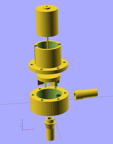 Ekobots - Water centrifugal pump. 3D Print 35636