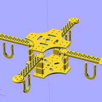 Small Ekobots - Quadcopter frame. 3D Printing 35637