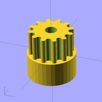 Small Ekobots - Gear generator cylindrical tooth 3D Printing 35638