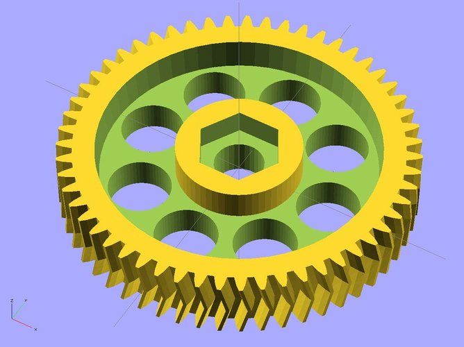 Ekobots - Gear generator simple or double helical tooth 3D Print 35655