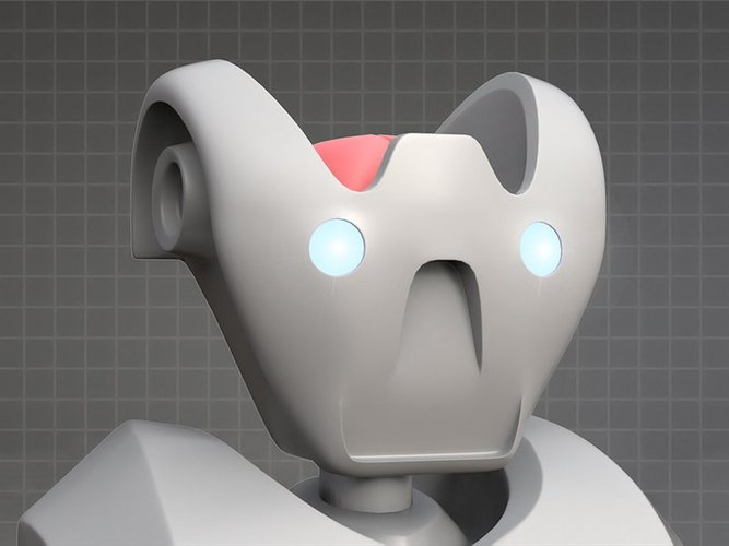 MakerTron Robot Head 3D Print 35802