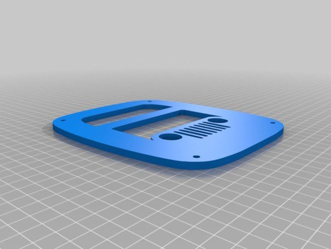 Jeep Wrangler cj, yj, tj tail light cover 3D Print 35812