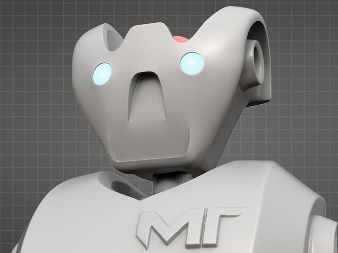 MakerTron Robot Head 3D Print 35855