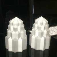 Small Art Deco style lampshade 3D Printing 35924