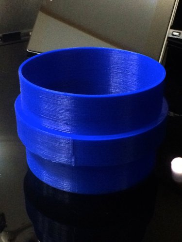 Air-duct Straight Joint 100mm 3D Print 35936