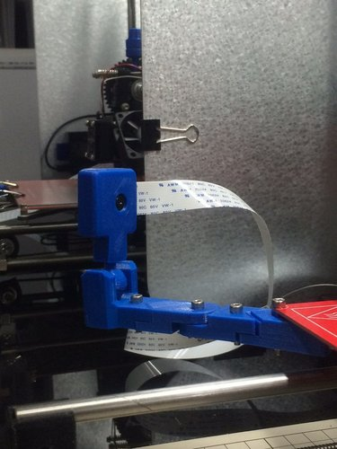 Raspberry Pi Camera Corner Mounting Stay (corner of a bed plate) 3D Print 35966