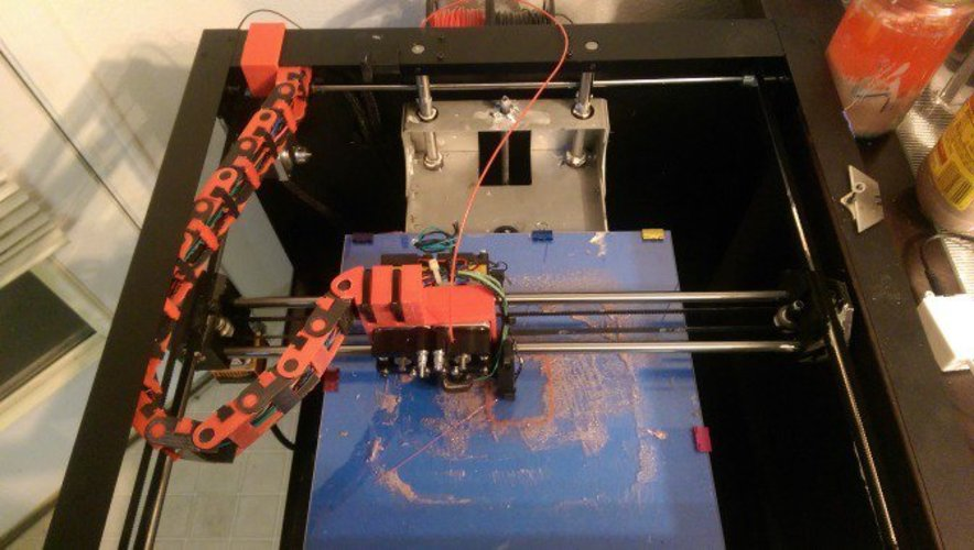 Workbench Cable chain guide with mount to Workbench. 3D Print 36016