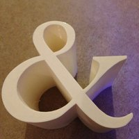 Small Ampersand 3D Printing 36050