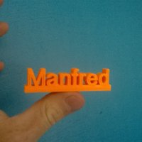 Small Manfred  3D Printing 36081