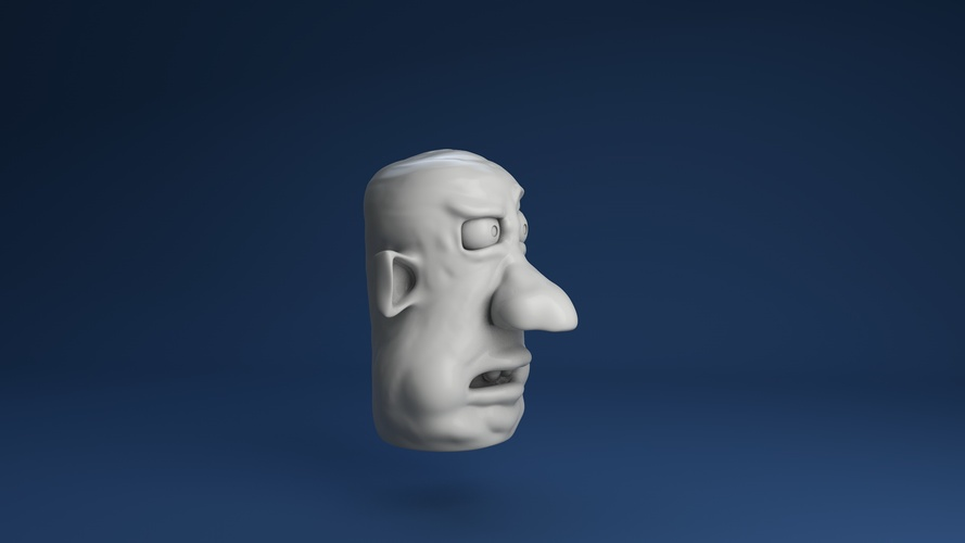 Face Finger Puppet (Version 6) 3D Print 3620