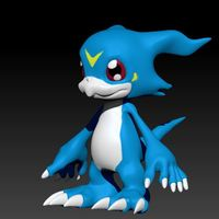 Small Veemon 3D Printing 36207