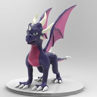 Small Cynder The Dragon  3D Printing 36210