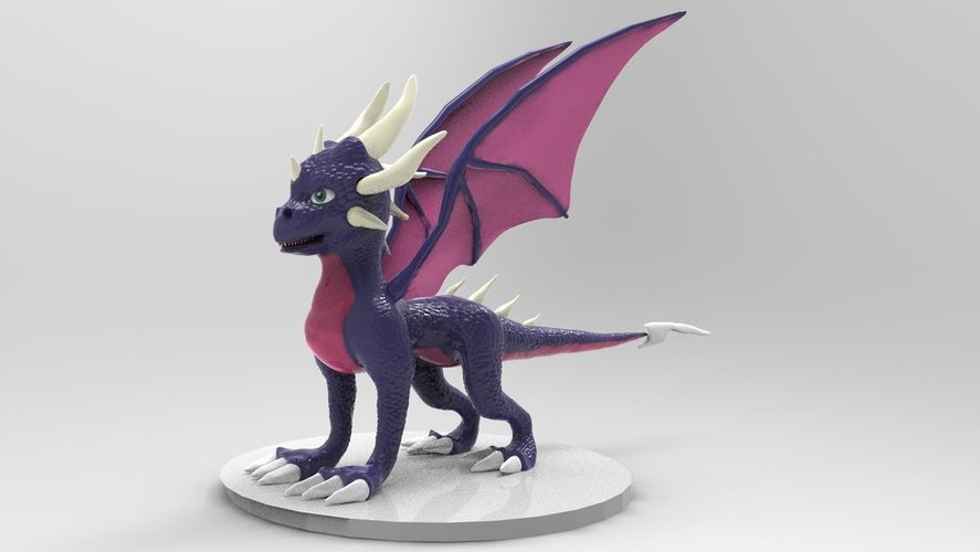 Cynder The Dragon  3D Print 36213