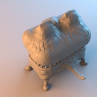 Small Monster Chest 3D Printing 3622