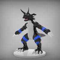 Small Growlmon Dark Edition Toy 3D Printing 36236