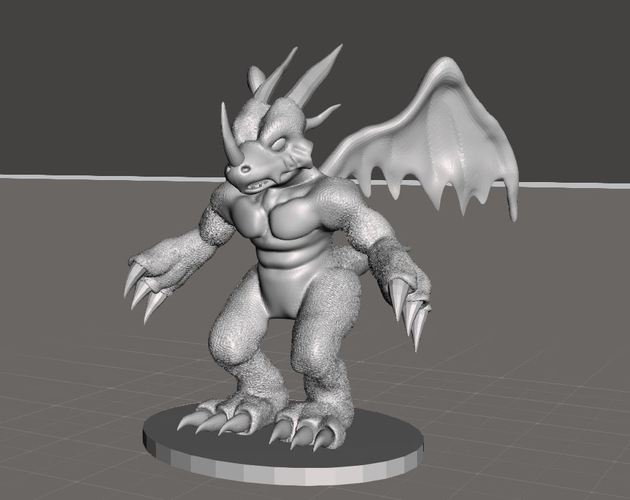 Dragon Action Figure Statue  3D Print 36241