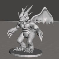 Small Dragon Action Figure Statue  3D Printing 36241