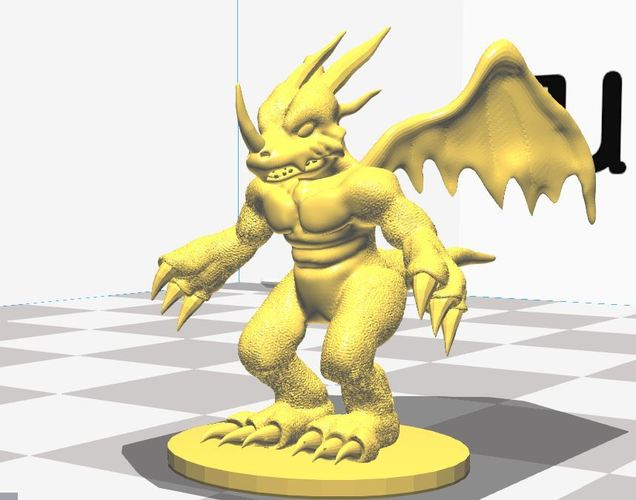 Dragon Action Figure Statue  3D Print 36242
