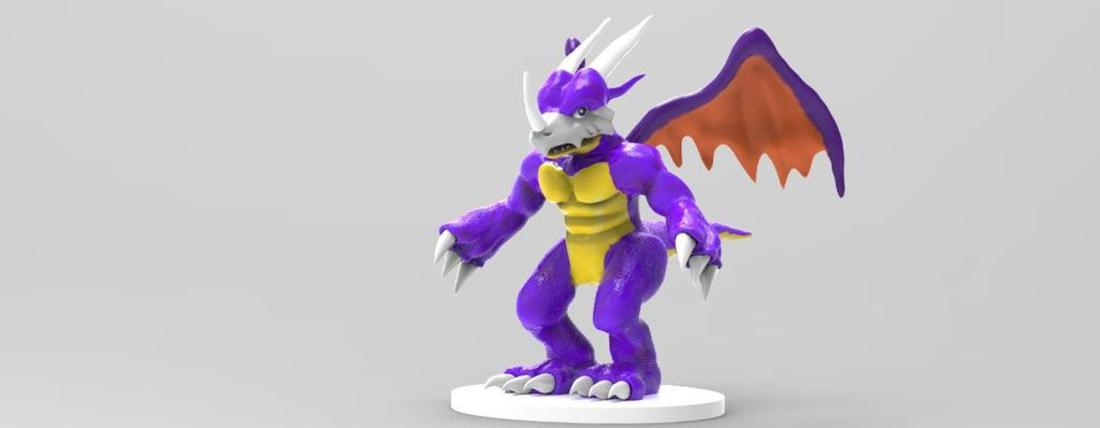 Dragon Action Figure Statue  3D Print 36243