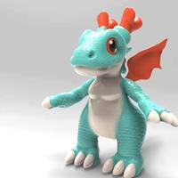 Small Dragon Puppy 3D Printing 36261