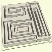 Small LABYRINTHE 3D 3D Printing 36282