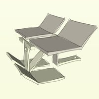 Small Beach Bed 3D Printing 36283