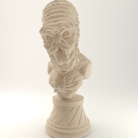 Small Alien Bust 01 (1) 3D Printing 3632