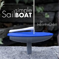 Small Toy Sailboat 3D Printing 36356