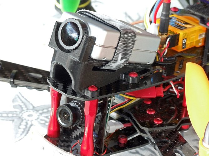 RunCam HD 20° mount for RD290 mini hex 3D Print 36427