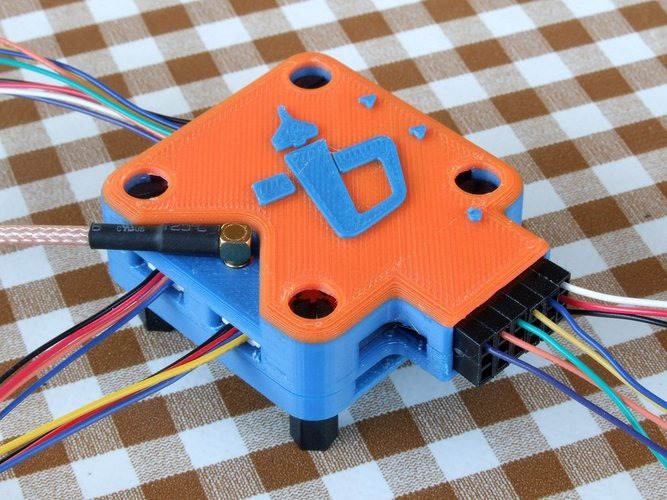 OP Revolution box - vertical antenna - angled servo pins (lid on 3D Print 36480