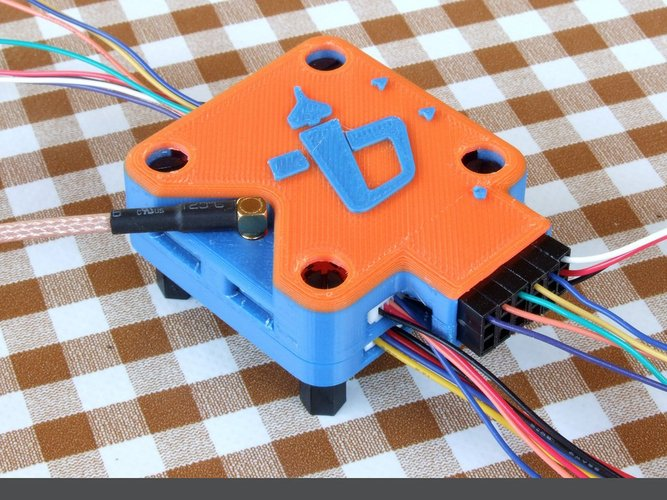 OP Revolution box - vertical antenna - angled servo pins (lid on 3D Print 36487