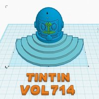 Small secret door tintin flight 414 3D Printing 36600