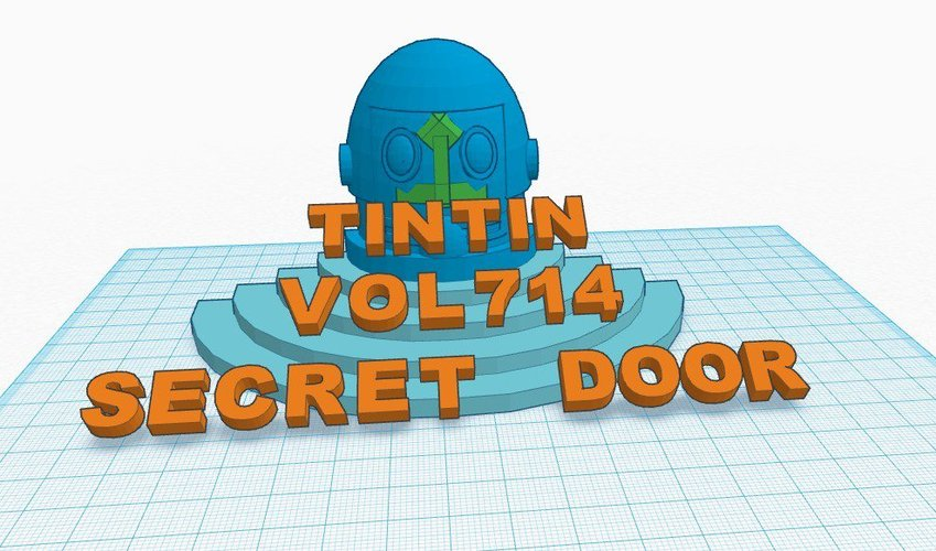 secret door tintin flight 414 3D Print 36602