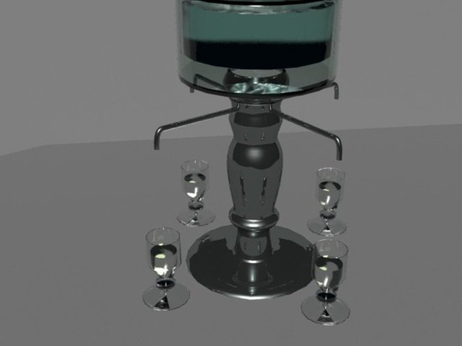 Absinthe Fountain 3D Print 36706