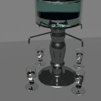 Small Absinthe Fountain 3D Printing 36706
