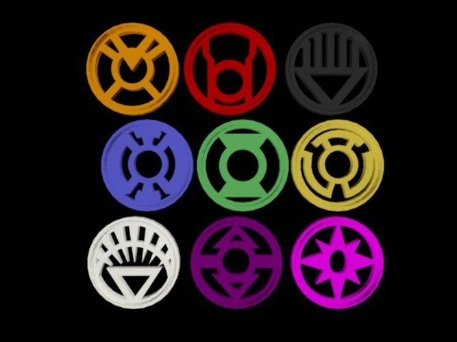 Lantern Corps - Cookie Cutters and Stamps 3D Print 36729