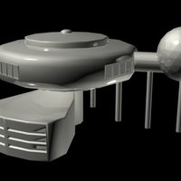Small Retro-Futurism House (1950s) 3D Printing 36732
