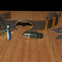 Small Batman's Utility Belt - Finished 3D Printing 36743
