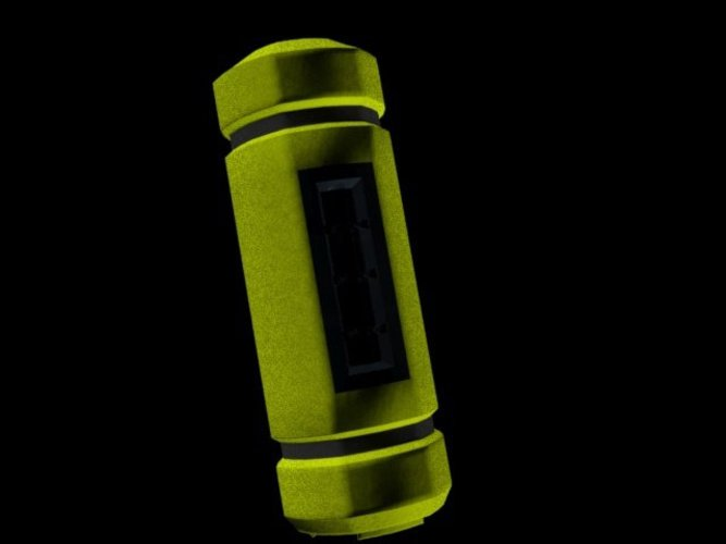 Monster's Inc. - Low_poly Scream Cannister 3D Print 36756