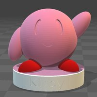 Small Kirby Model 3D Printing 36829