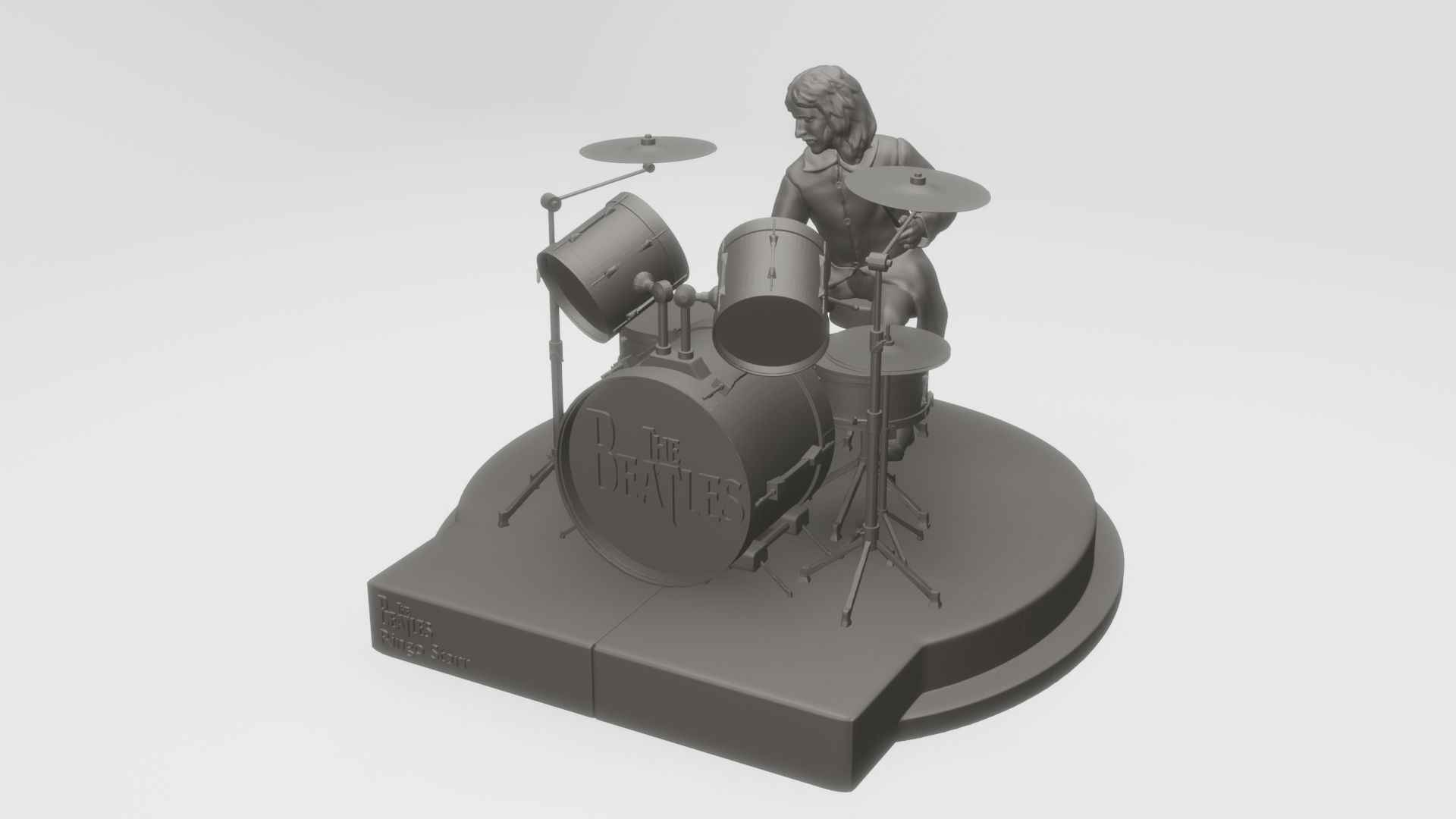3d Printed Ringo Starr The Beatles Rooftop Concert By Monkey B Pinshape