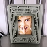 Small Pictureframe 'musicnote'  3D Printing 369581