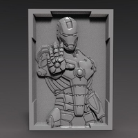 Small Iron man Bas-relief CNC 3D Printing 369598
