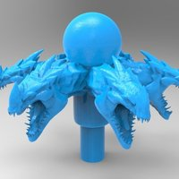 Small dragon fountain 3D Printing 37050